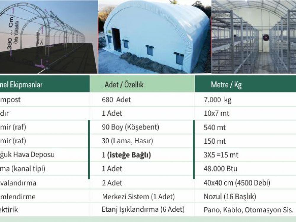 70 m² Çadır Üretim Sistemi